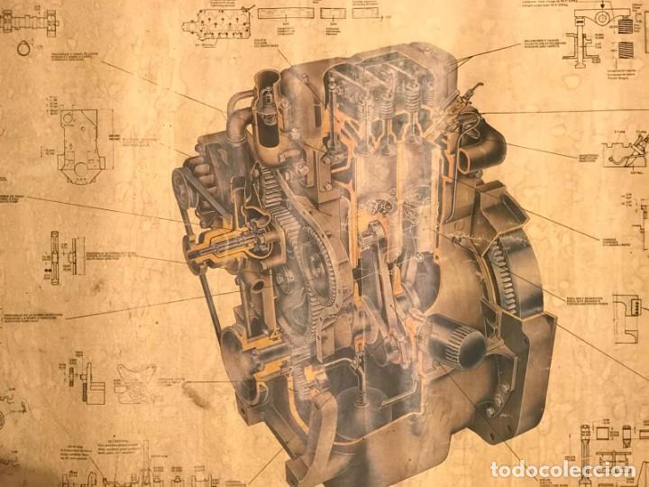 Coches y Motocicletas: ANTIGUO CARTEL MOTOR PERKINS D3.152 EDITADO POR MOTOR IBERICA S.A AÑOS 70 - Foto 4 - 217393848
