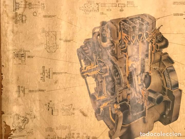 Coches y Motocicletas: ANTIGUO CARTEL MOTOR PERKINS D3.152 EDITADO POR MOTOR IBERICA S.A AÑOS 70 - Foto 6 - 217393848