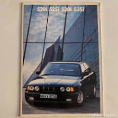 Coches y Motocicletas: CATALOGO FOLLETO PUBLICIDAD BMW 520I 525I 530I 535I SERIE 5 DE 1988. Lote 217400693