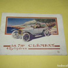 Coches y Motocicletas: ANTIGUO CATÁLOGO ORIGINAL DEL AUTOMOVIL CLEMENT 7HP 4 CYLINDRES DE CLÉMENT-BAYARD - AÑO 1903-1922. Lote 217816215