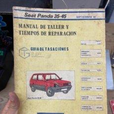 """Carros e motociclos: MANUAL DE TALLER """"SEAT PANDA 35-45"""". Lote 217832236"""