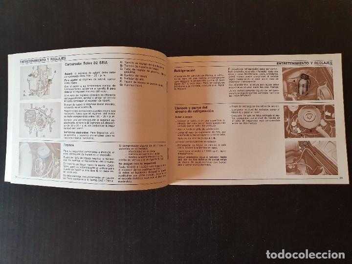 Coches y Motocicletas: LOTE RENAULT 7 - CATALOGOS, MANUAL FOLLETO. ORIGINAL AÑOS 70. - Foto 3 - 217934021