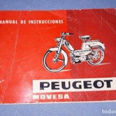 Coches y Motocicletas: MANUAL DE INSTRUCCIONES DE LA MOTO PEUGEOT DE MOVESA AÑO 1968 MARZO. Lote 218420222