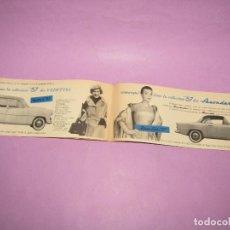 Coches y Motocicletas: ANTIGUO CATÁLOGO ORIGINAL DE LOS COCHES SIMCA ARONDE Y VEDETTE DEL AÑO 1957. Lote 218483182