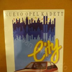 Coches y Motocicletas: OPEL KADETT CITY. FOLLETO 1987. Lote 218520682