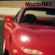 Carros e motociclos: CATÁLOGO MAZDA RX-7. MARZO 1992. EN ESPAÑOL *. Lote 219330326
