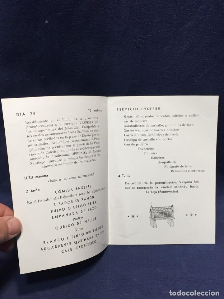 Coches y Motocicletas: documento vespa club españa peregrinacion santiago compostela 24 julio 1959 17x12,5cm - Foto 2 - 219351882