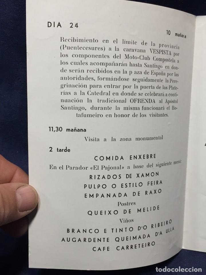 Coches y Motocicletas: documento vespa club españa peregrinacion santiago compostela 24 julio 1959 17x12,5cm - Foto 3 - 219351882