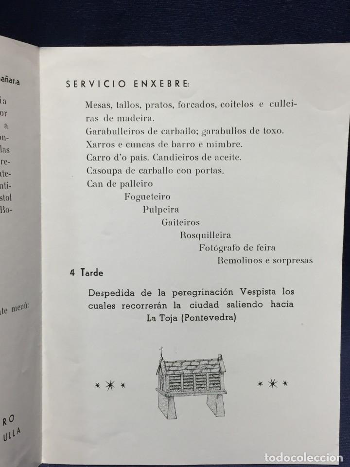 Coches y Motocicletas: documento vespa club españa peregrinacion santiago compostela 24 julio 1959 17x12,5cm - Foto 4 - 219351882