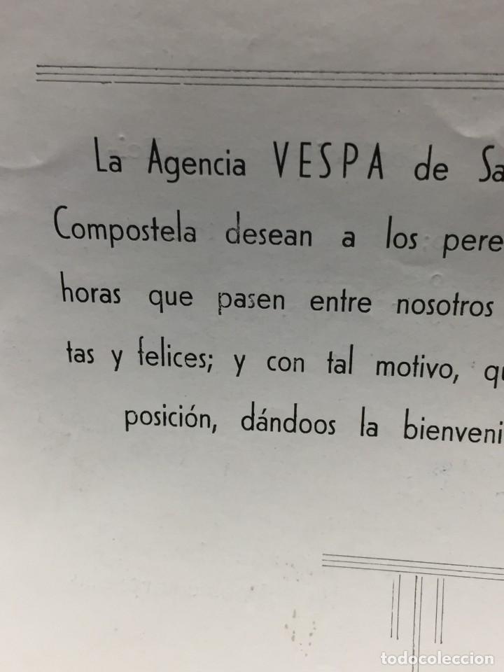 Coches y Motocicletas: documento vespa club españa peregrinacion santiago compostela 24 julio 1959 17x12,5cm - Foto 6 - 219351882
