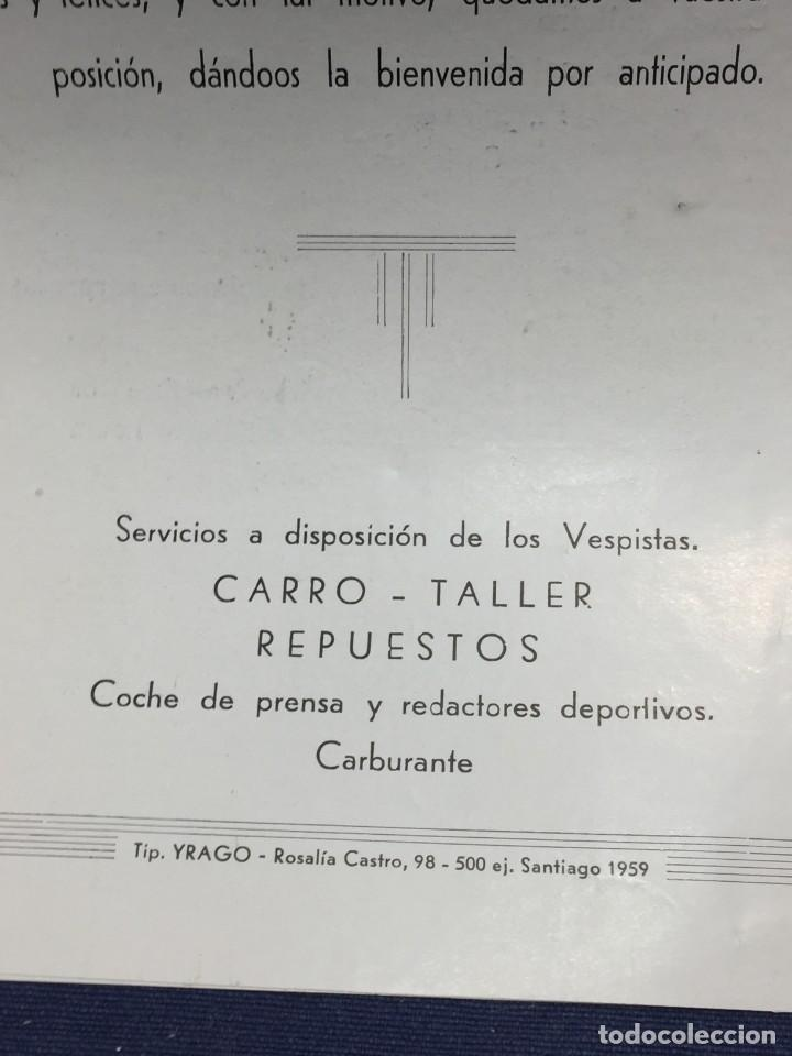 Coches y Motocicletas: documento vespa club españa peregrinacion santiago compostela 24 julio 1959 17x12,5cm - Foto 7 - 219351882
