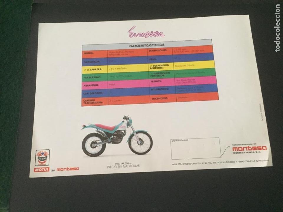 Coches y Motocicletas: DIPTICO MONTESA - LA GRAN EVASIÓN - MOTOS - Foto 5 - 219644525