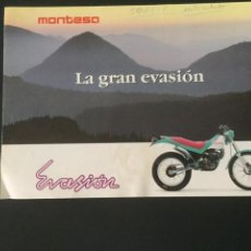 Coches y Motocicletas: DIPTICO MONTESA - LA GRAN EVASIÓN - MOTOS. Lote 219644525