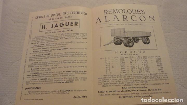 Coches y Motocicletas: ANTIGUO DIPTICO.TRACTOR.CABINAS MORERA.FORD-EBRO.H.JAGUER.REMOLQUES ALARCON.MANUEL ESPINO REINA.1960 - Foto 2 - 220614678