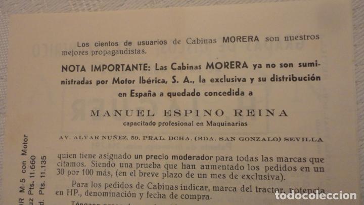 Coches y Motocicletas: ANTIGUO DIPTICO.TRACTOR.CABINAS MORERA.FORD-EBRO.H.JAGUER.REMOLQUES ALARCON.MANUEL ESPINO REINA.1960 - Foto 4 - 220614678