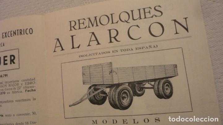 Coches y Motocicletas: ANTIGUO DIPTICO.TRACTOR.CABINAS MORERA.FORD-EBRO.H.JAGUER.REMOLQUES ALARCON.MANUEL ESPINO REINA.1960 - Foto 5 - 220614678