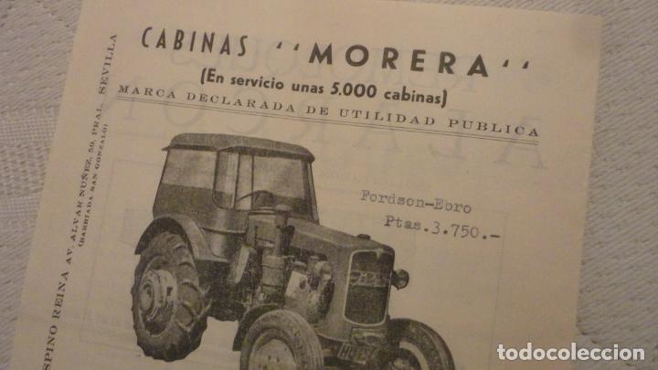 Coches y Motocicletas: ANTIGUO DIPTICO.TRACTOR.CABINAS MORERA.FORD-EBRO.H.JAGUER.REMOLQUES ALARCON.MANUEL ESPINO REINA.1960 - Foto 6 - 220614678