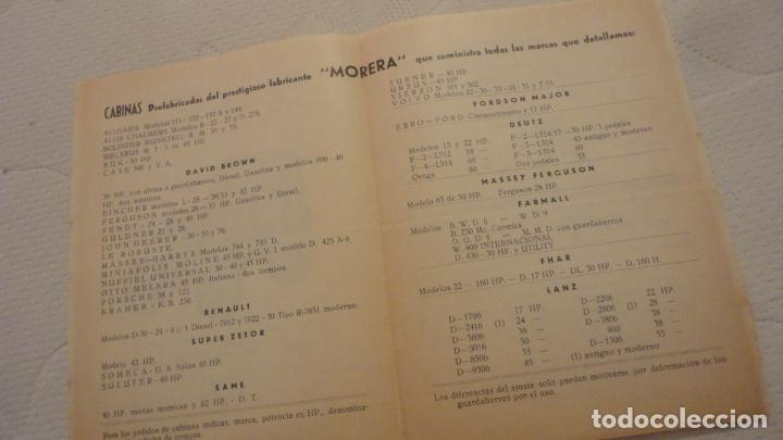 Coches y Motocicletas: ANTIGUO DIPTICO.TRACTOR.CABINAS MORERA.DAVID BROWN.RENAULT.FORDSON MAJOR.FHAR.LANZA.MAN.1960 - Foto 2 - 220614832