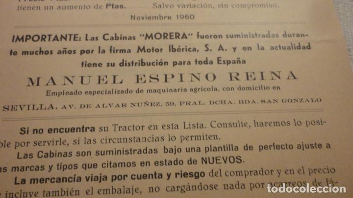 Coches y Motocicletas: ANTIGUO DIPTICO.TRACTOR.CABINAS MORERA.DAVID BROWN.RENAULT.FORDSON MAJOR.FHAR.LANZA.MAN.1960 - Foto 4 - 220614832