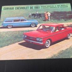 Coches y Motocicletas: CATALOGO COCHE CHEVROLET - AÑO 1961 - NUEVOS MODELOS. Lote 220742597