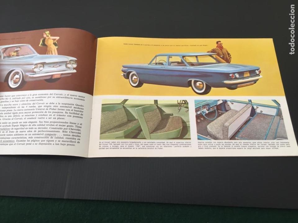 Coches y Motocicletas: CATALOGO COCHE CHEVROLET - CORVAIR - AÑO 1960 - Foto 2 - 220742901