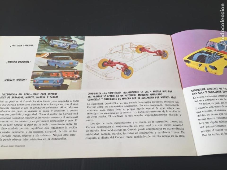 Coches y Motocicletas: CATALOGO COCHE CHEVROLET - CORVAIR - AÑO 1960 - Foto 3 - 220742901