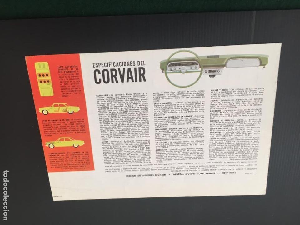 Coches y Motocicletas: CATALOGO COCHE CHEVROLET - CORVAIR - AÑO 1960 - Foto 4 - 220742901
