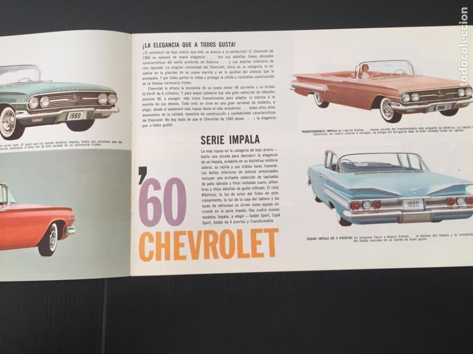 Coches y Motocicletas: CATALOGO COCHE CHEVROLET - AÑO 1960 - Foto 2 - 220753298