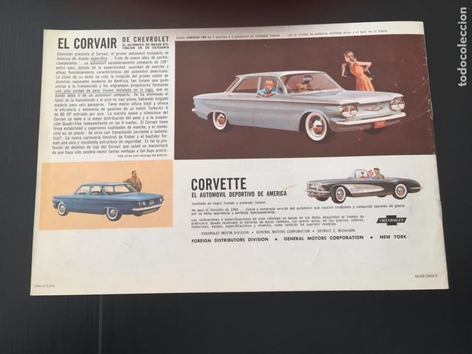 Coches y Motocicletas: CATALOGO COCHE CHEVROLET - AÑO 1960 - Foto 4 - 220753298