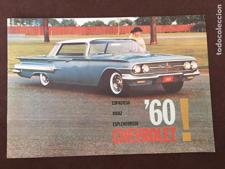 CATALOGO COCHE CHEVROLET - AÑO 1960 (Coches y Motocicletas Antiguas y Clásicas - Catálogos, Publicidad y Libros de mecánica)