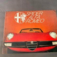 Coches y Motocicletas: ALFA ROMEO SPIDER 1600 2000 CATALOGO VENTAS SALES BROCHURE ORIGINAL. Lote 220840235