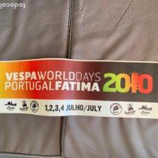 Coches y Motocicletas: VESPA PIAGGIO BANDEROLA FATIMA PORTUGAL 2010. Lote 220844133