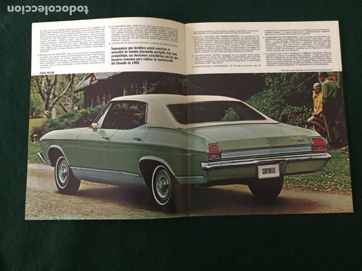 Coches y Motocicletas: CATALOGO COCHE CHEVROLET - CHEVELLE - AÑO 1969 - Foto 3 - 220981760