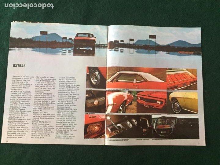 Coches y Motocicletas: CATALOGO COCHE CHEVROLET - CAMARO - AÑO 1969 - Foto 3 - 220982078
