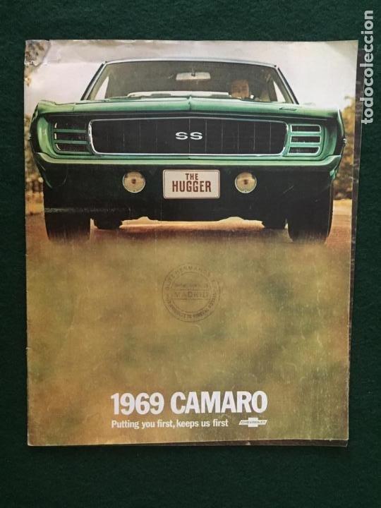 CATALOGO COCHE CHEVROLET - CAMARO - AÑO 1969 (Coches y Motocicletas Antiguas y Clásicas - Catálogos, Publicidad y Libros de mecánica)