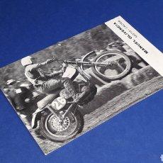 Coches y Motocicletas: TARJETA POSTAL ORIGINAL MOTOCICLETA MONTESA MANUEL OLIVENCIA MOTO-CROSS. Lote 221165646