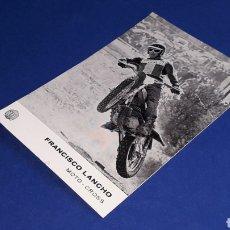Coches y Motocicletas: TARJETA POSTAL ORIGINAL MOTOCICLETA MONTESA FRANCISCO LANCHO MOTO-CROSS. Lote 221165867