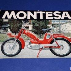 Coches y Motocicletas: FOLLETO PUBLICIDAD ORIGINAL CICLOMOTOR MINI MONTESA, CARACTERÍSTICAS AL DORSO, 16 X 11 CMS.. Lote 221168456