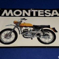 Coches y Motocicletas: FOLLETO PUBLICIDAD ORIGINAL MOTOCICLETA MONTESA TEXAS, CARACTERÍSTICAS AL DORSO, 16 X 11 CMS.. Lote 221168512