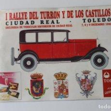 Coches y Motocicletas: CATALOGO I RALLYE DEL TURRON Y DE LOS CASTILLOS, CIUDAD REAL - TOLEDO 1990. Lote 221741488