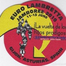 Coches y Motocicletas: PARCHE EURO LAMBRETTA JAMBOREE 2010 GIJON LAMBRETTA VESPA MODS SCOOTERISTAS. Lote 221775112