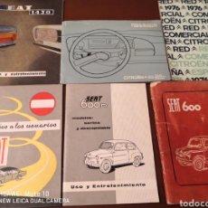 Coches y Motocicletas: CATÁLOGOS DE USO SEAT 600, SEAT 1430 Y CITROEN GS ADEMÁS RED COMERCIAL Y CONSEJOS.. Lote 221832177