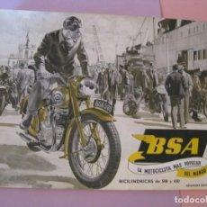Automobili e Motociclette: FOLLETO CATALOGO MOTOCICLETAS BSA. 23X18 CM. 1954.. Lote 222256425