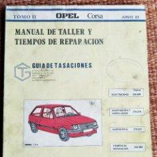 Coches y Motocicletas: OPEL CORSA - MANUAL DE TALLER - TOMO II - 1983. Lote 222307622