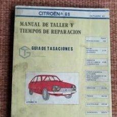 Coches y Motocicletas: CITROEN GS - MANUAL DE TALLER - 1981. Lote 222307783