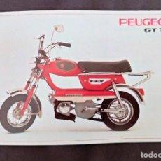 Coches y Motocicletas: CARACTERISTICAS TECNICAS DE MOTO PEUGEOT GT 10 CATALOGO EN FRANCES. Lote 222352405