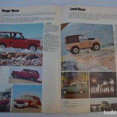 Coches y Motocicletas: 1979 CATÁLOGO MINI , LAND ROVER .... RARO. Lote 222630550
