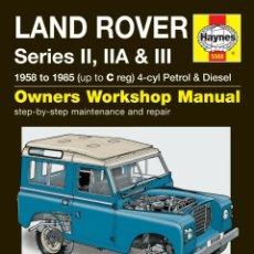 Coches y Motocicletas: LAND ROVER DEFENDER 1958-1985 MANUAL HAYNES. Lote 222661571