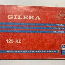 Coches y Motocicletas: MANUAL DE USO Y ENTRETENIMIENTO GILERA 125 KZ. Lote 222663108