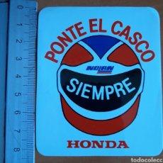Coches y Motocicletas: PEGATINA AÑOS 80 DE HONDA Y NOLAN. Lote 222988645